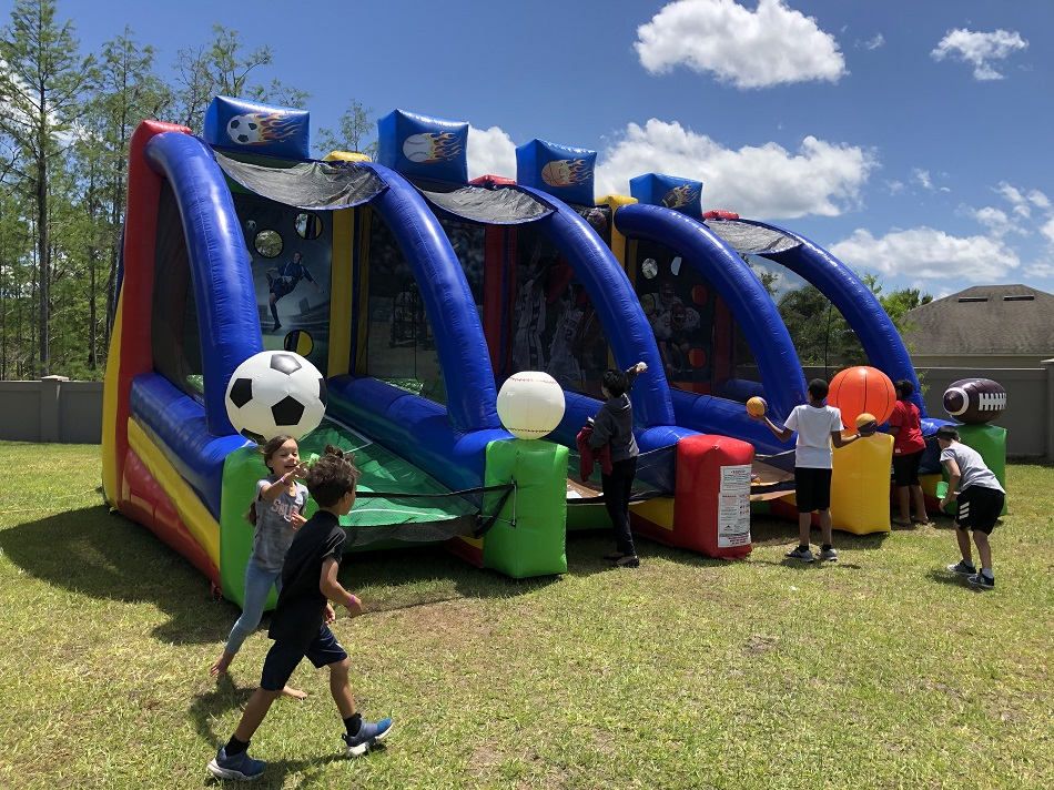 4 in 1 sports game inflatable rental