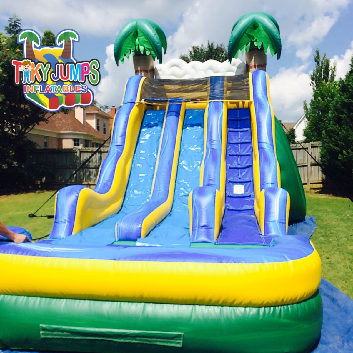 Tropical Dual Water Slide Memphis Rentals