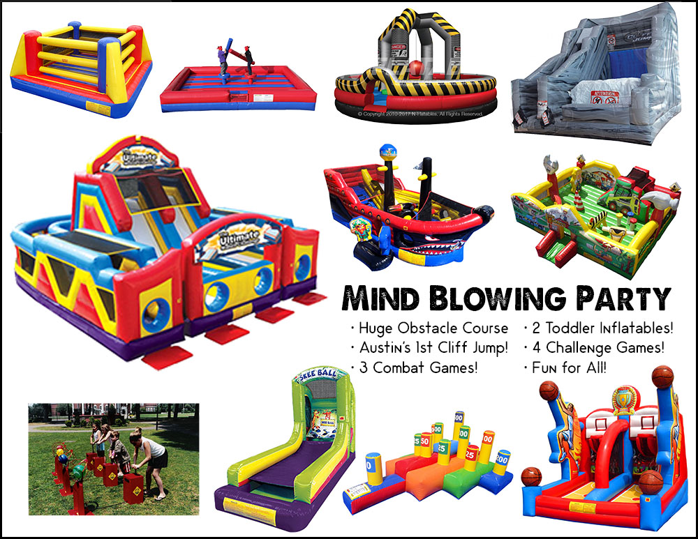 Mind Blowing Party Package in Austin Texas from Austin Bounce House Rentals