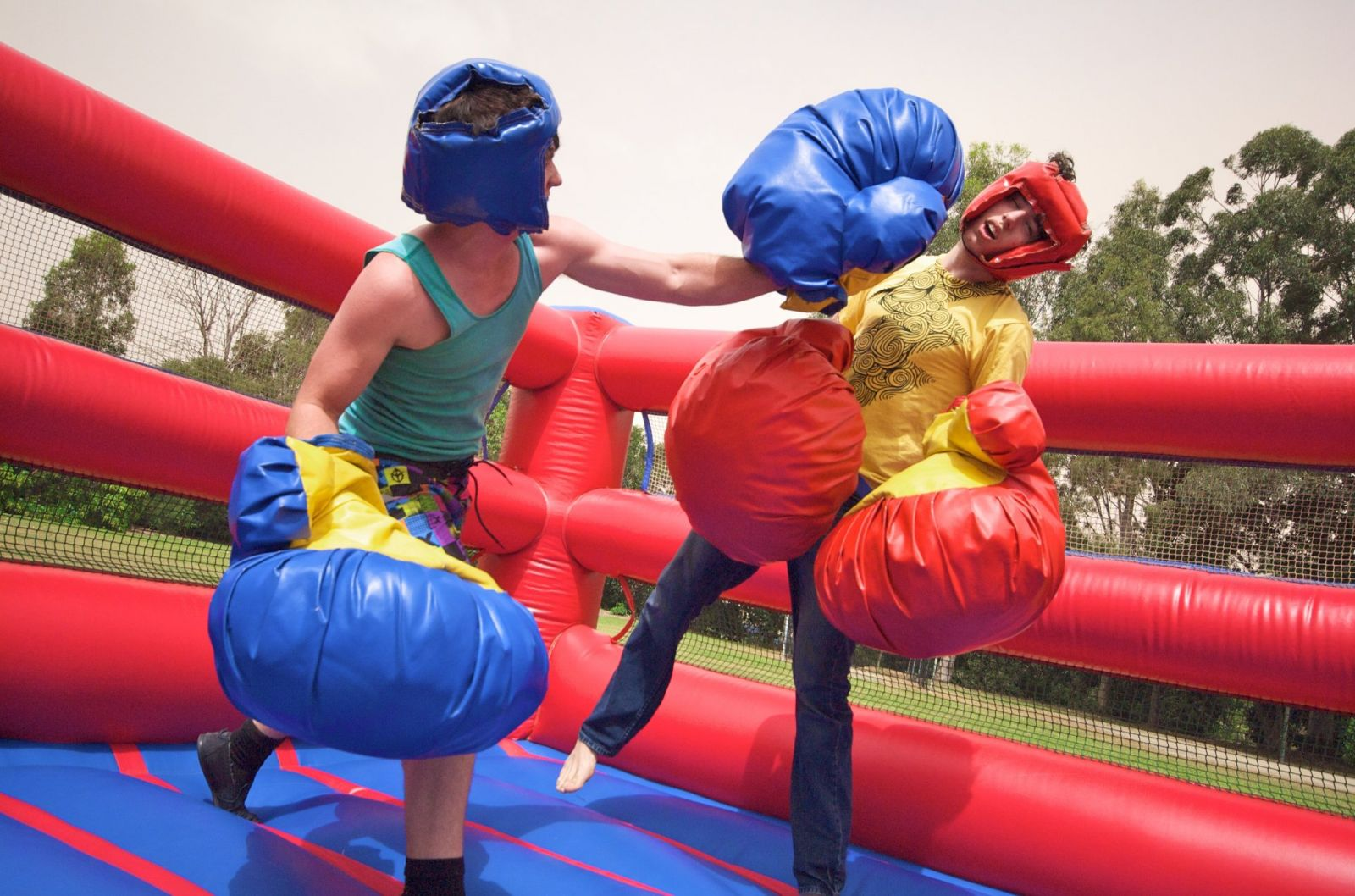 Bouncy Boxing Inflatable rental for parties in Austin Texas from Austin Bounce House Rentals