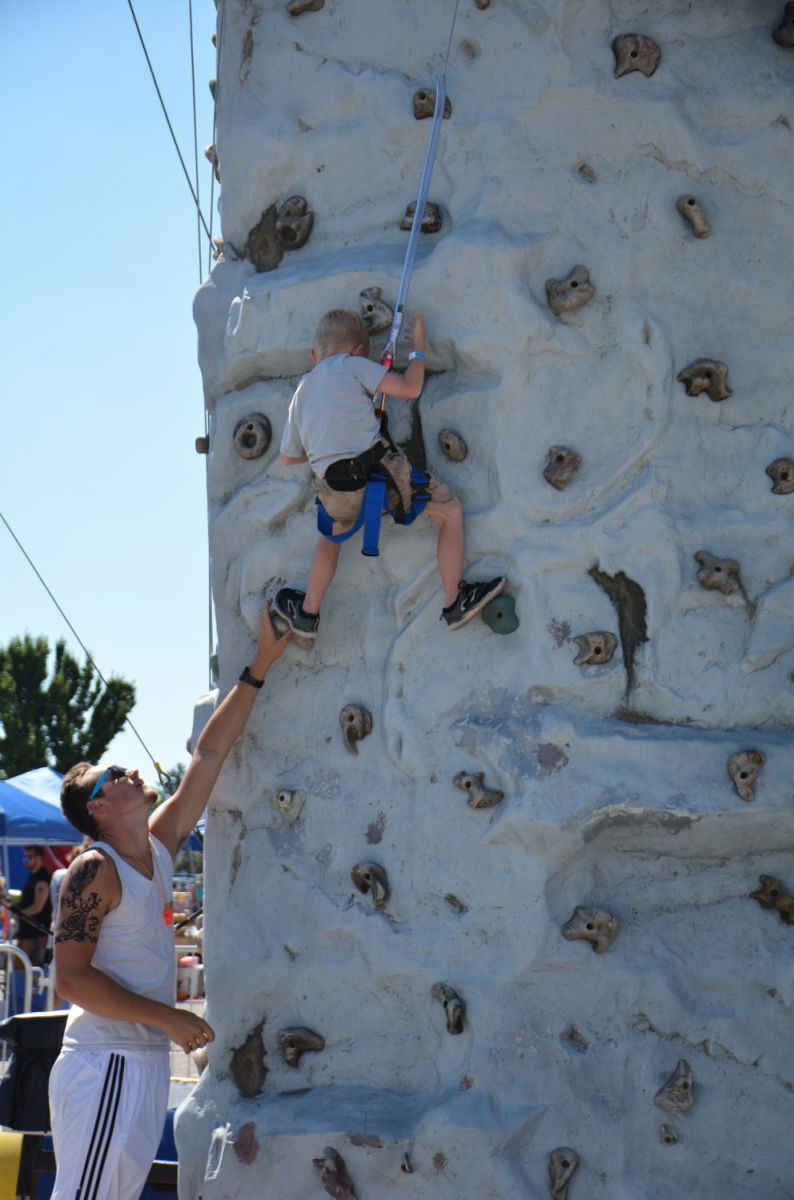 Rock Wall climbing view