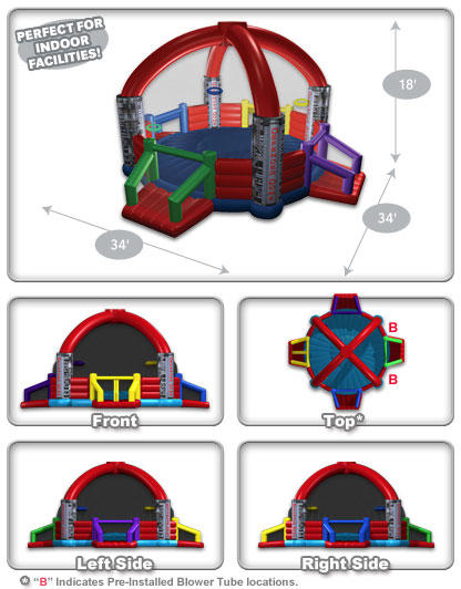 Defender Dome Interactive view with 3MonkeysInflatables.com