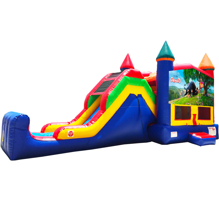 Ferdinand Super Combo 5-in-1 rentals in Austin Texas from Austin Bounce House Rentals 512-765-6071