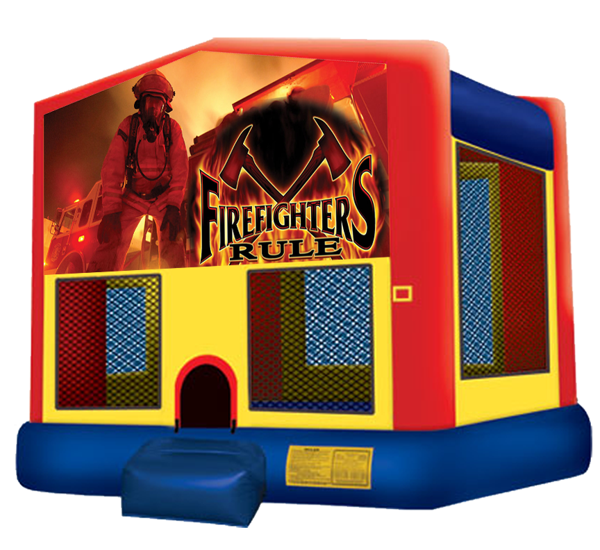 Firefighter House rentals in Austin Texas from Austin Bounce House Rentals