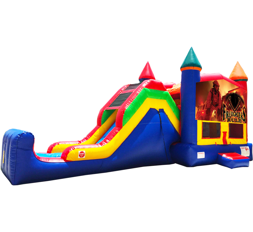 Firefighter Super Combo 5-in-1 from Austin Bounce House Rentals in Austin Texas