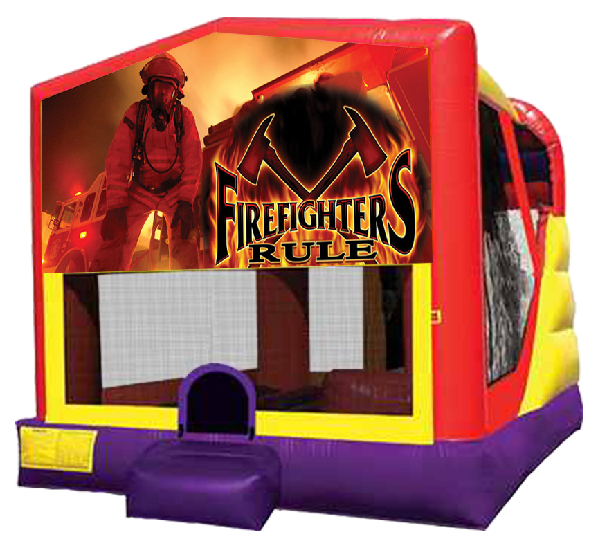 Firefighter 4-in-1 Combo in Austin Texas from Austin Bounce House Rentals 512-765-6071