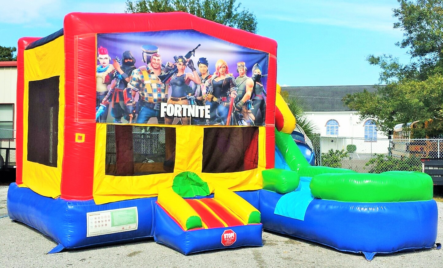 secure your date today book online or call 813 996 2935 - fortnite party jumper