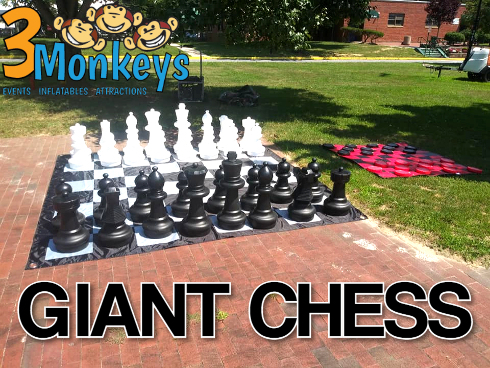 Oversized Chess Lawn Game