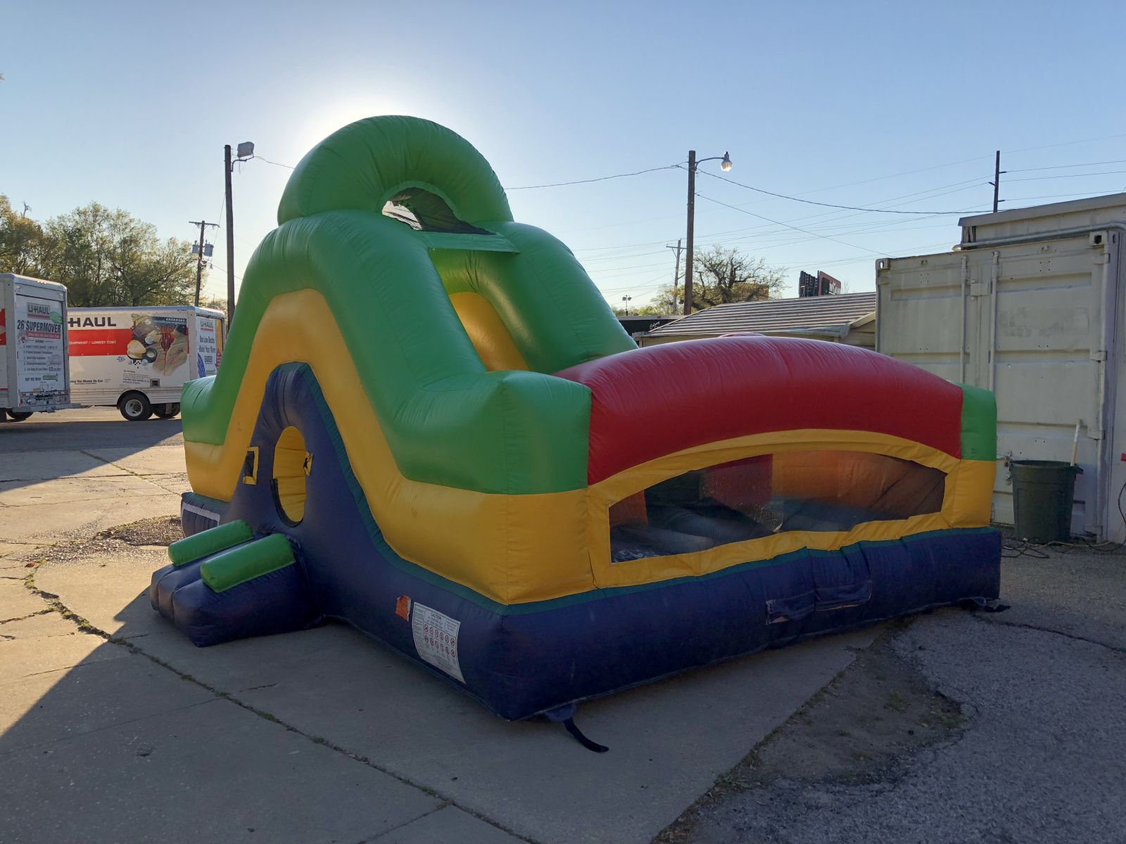 multicolor toddler obstacle course bounce house for rent