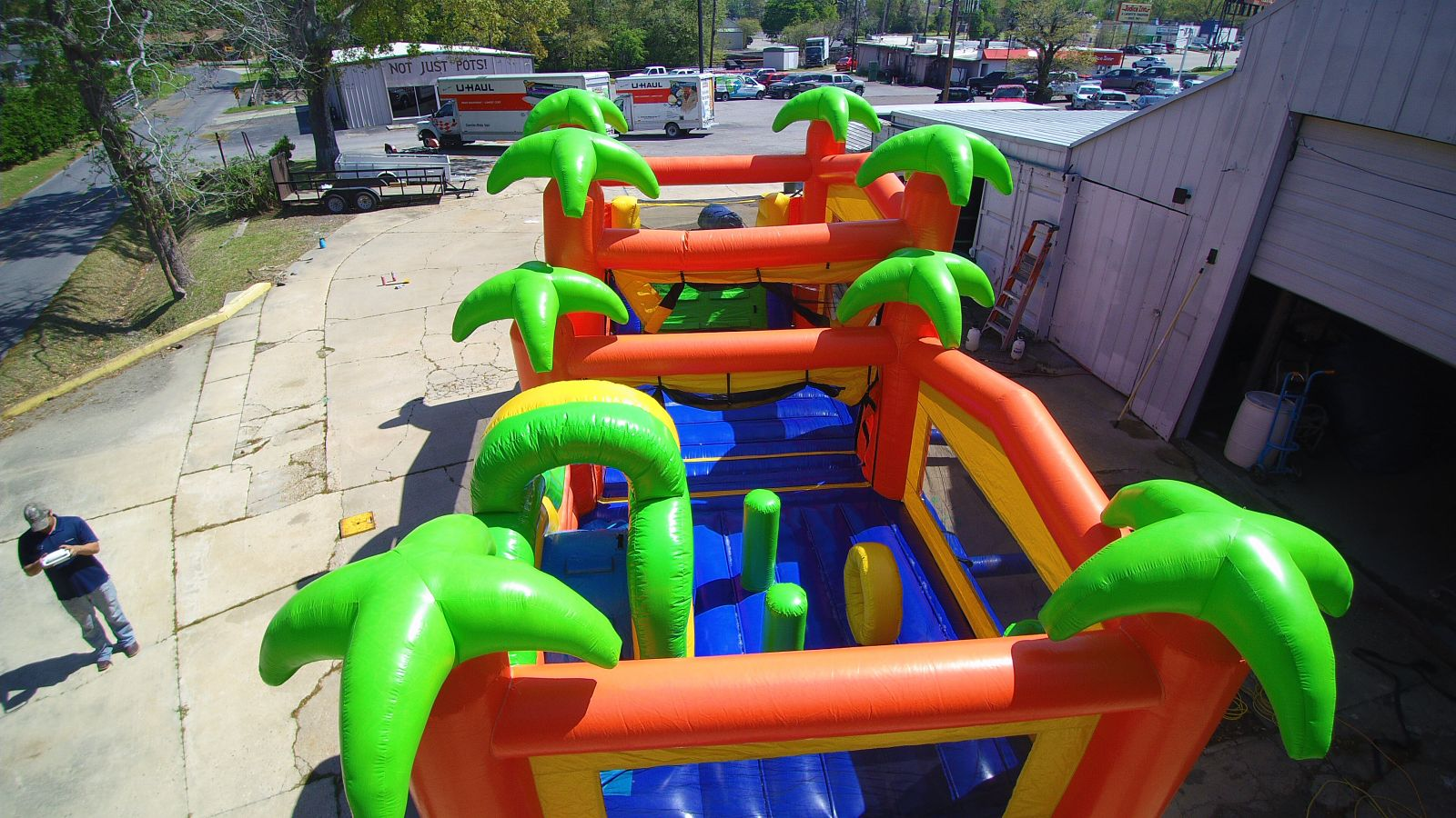 amazing tropical obstacle course for your party