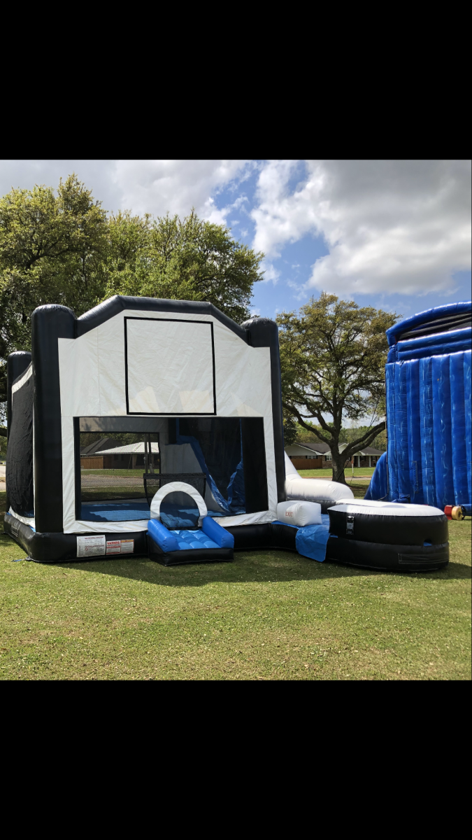 Black and White Slide Combo Inflatable