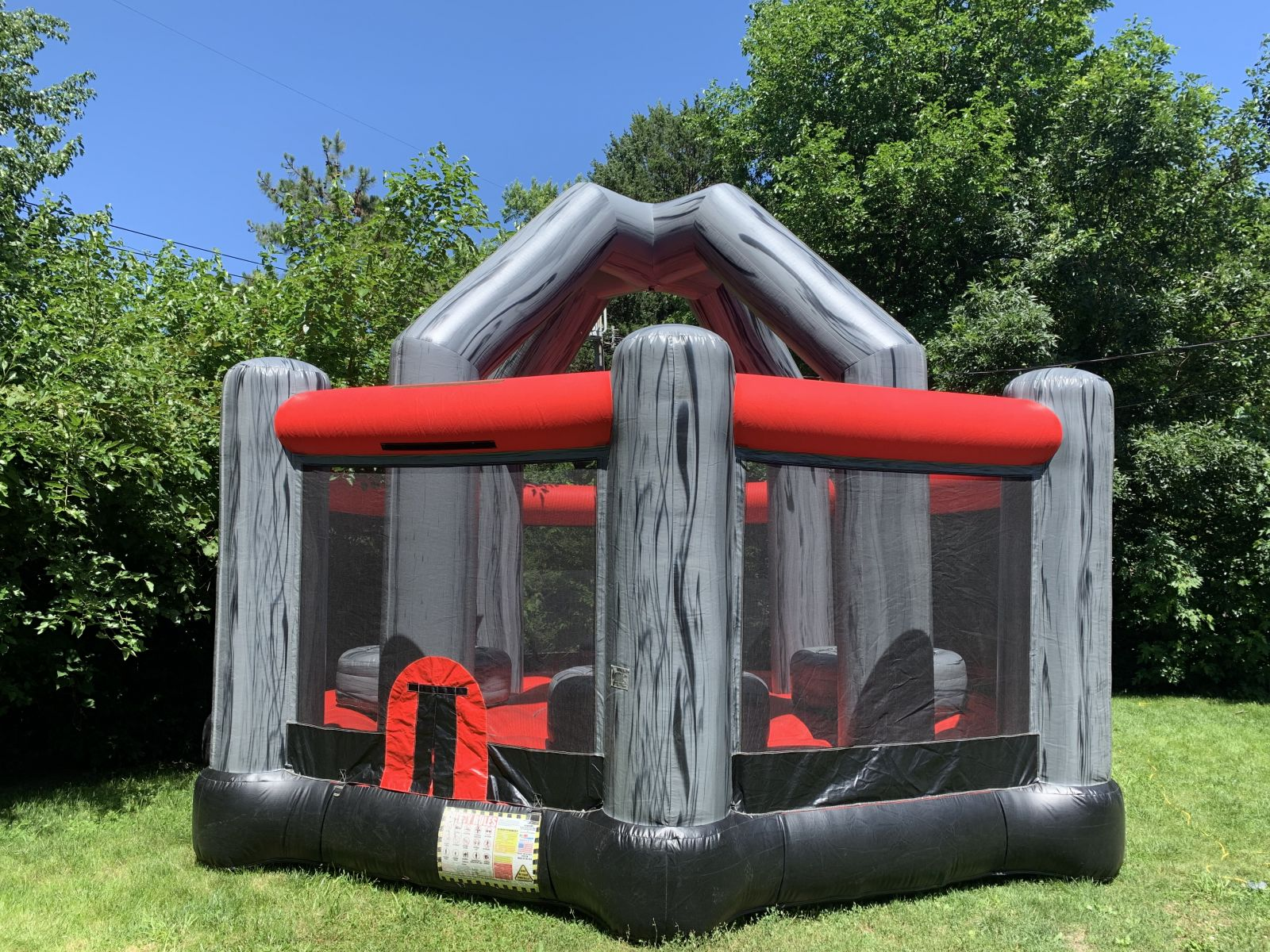 Inflatable obstacle challenge game.
