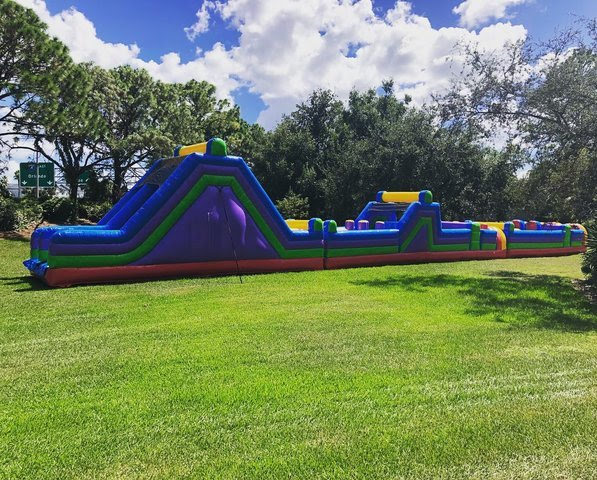 100ft inflatable obstacle course rental