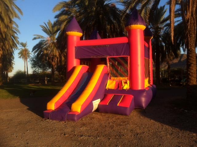 Kiddie Size Bounce Slide Combo