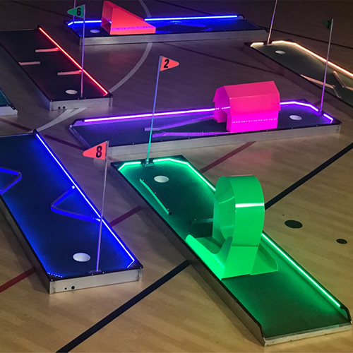6 hole LED mini golf