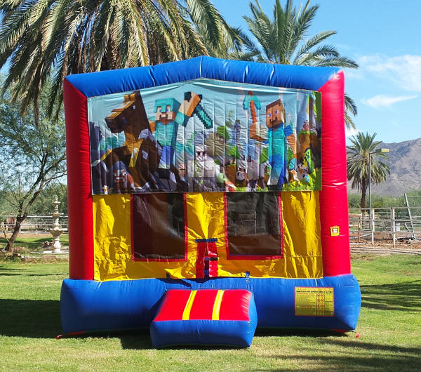 Mine Craft Theme Bounce House Rental