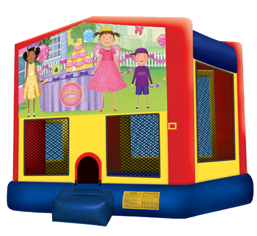Pinkalicous Bounce House rentals in Austin Texas from Austin Bounce House Rentals
