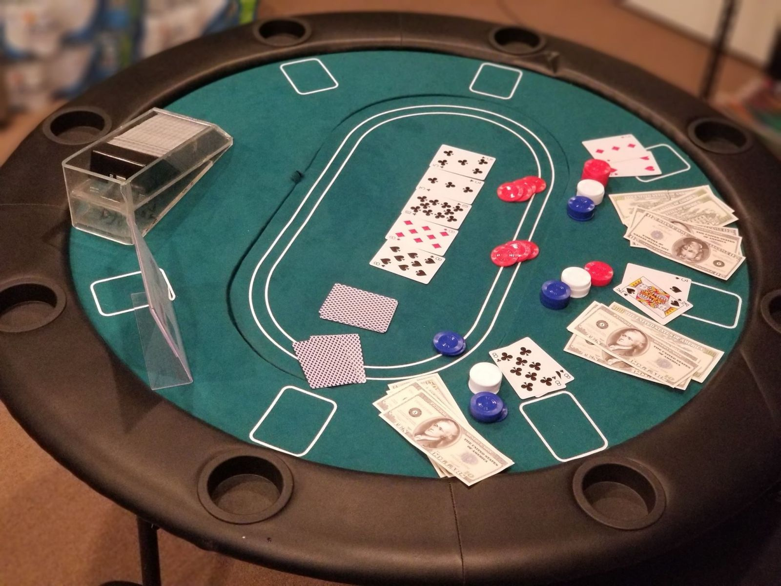 Round Poker Table Casino Games | www.3monkeysinflatables.com