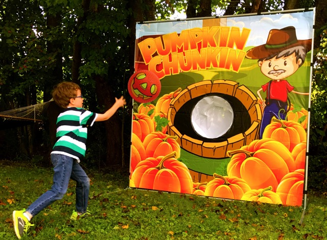 Pumpkin Chunkin Carnival Game in Austin Texas from Austin Bounce House Rentals