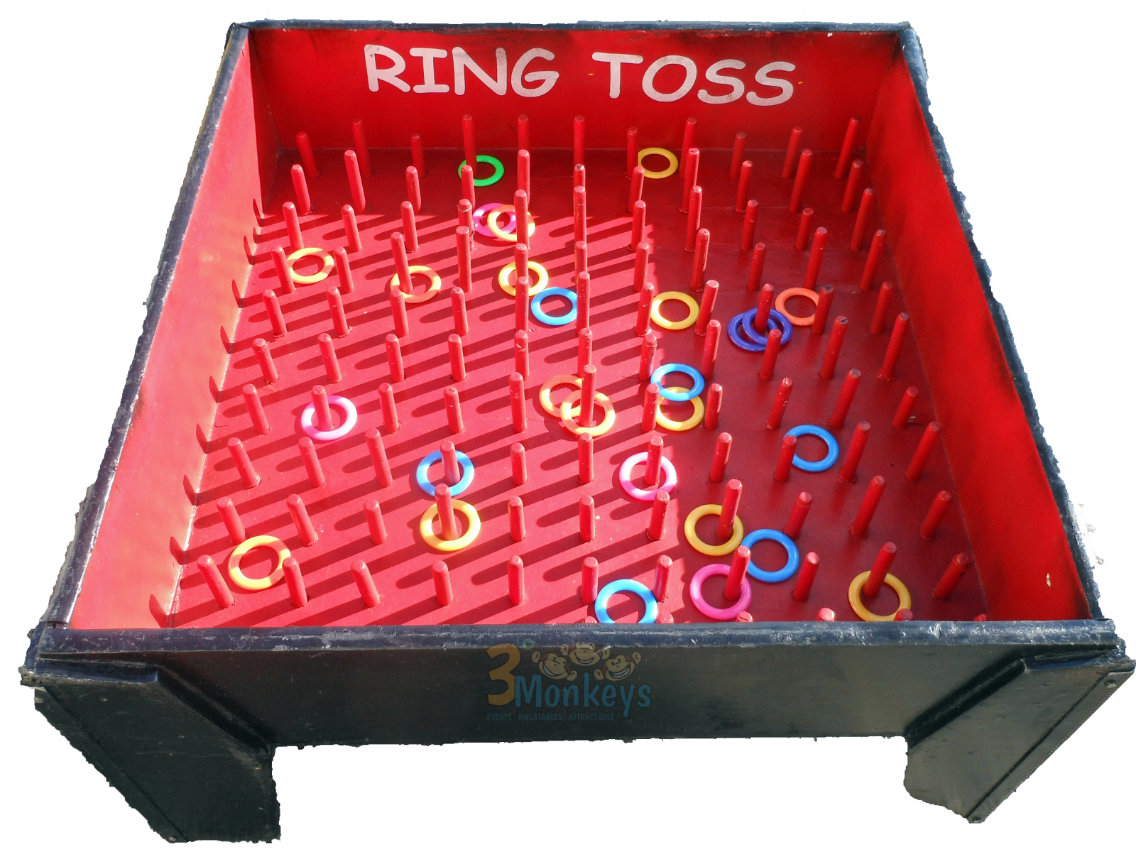 Above View of Oversized Ring Toss Game