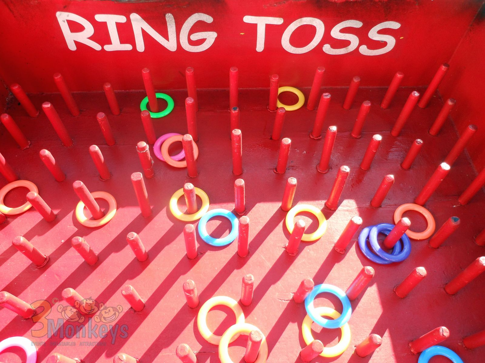 Inside View of Oversized Ring Toss Game