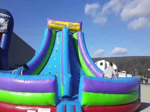Slippery Slope Interactive Inflatable | 3MonkeysInflatables.com