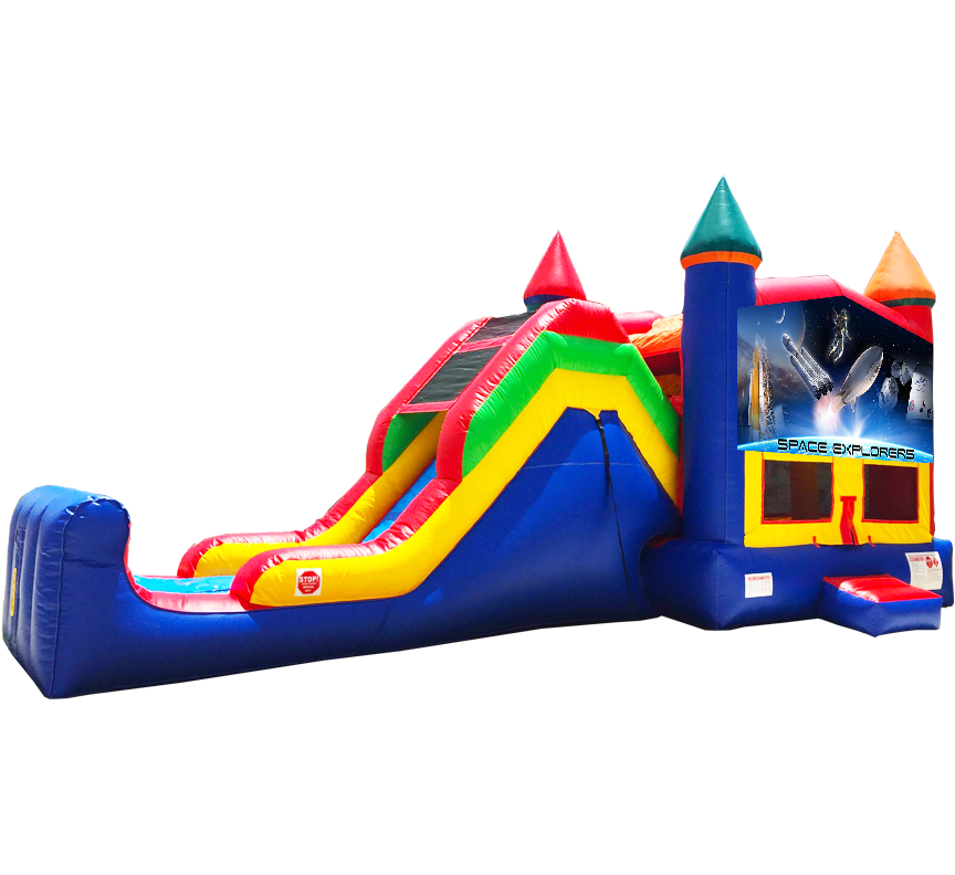 Space Explorers Super Combo 5-in-1 Rentals in Austin Texas from Austin Bounce House Rentals