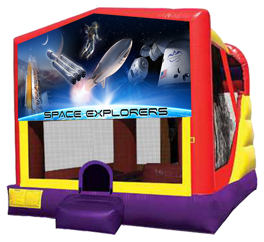 Space Explorers 4-in-1 Combo Bouncer rentals in Austin Texas from Austin Bounce House Rentals
