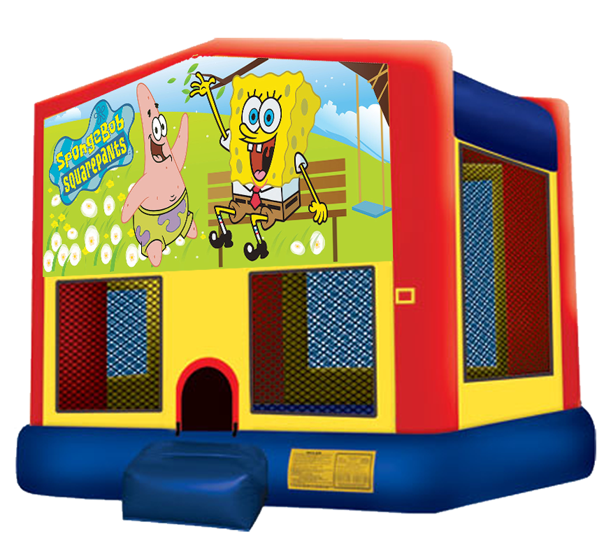 Sponge Bob Bounce House Rentals in Austin Texas from Austin Bounce House Rentals