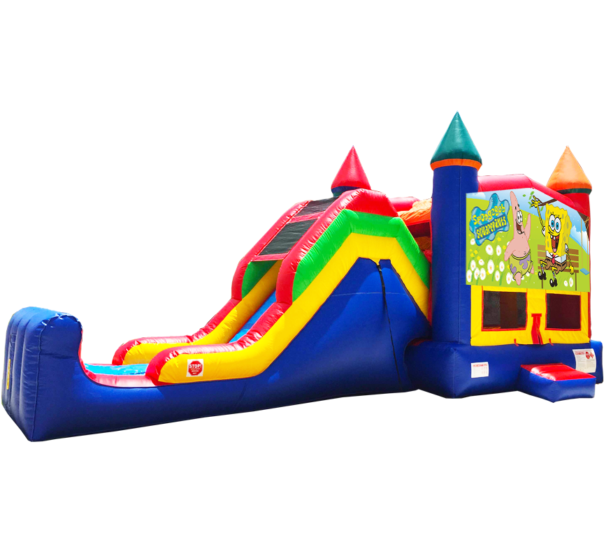 Sponge Bob Super Combo Rentals in Austin Texas from Austin Bounce House Rentals