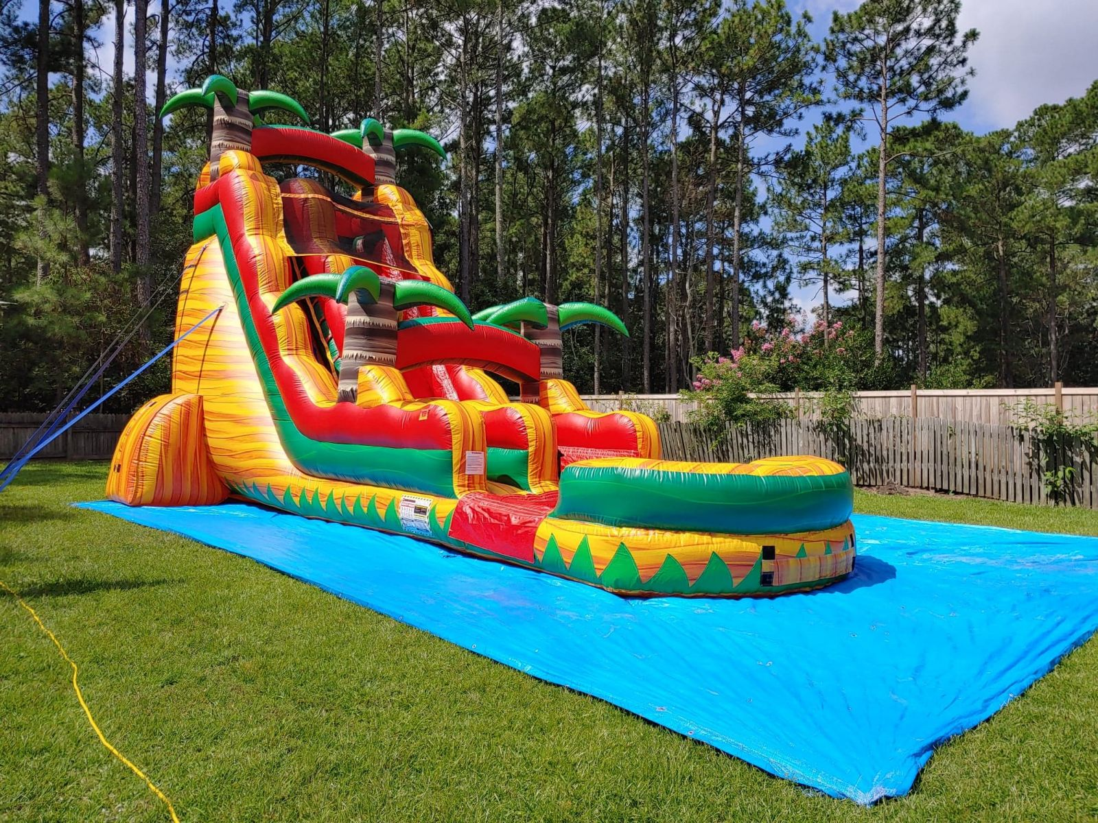 Tropical Fiesta 22ft Tall Inflatable Water Slide Rental