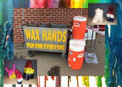 Wax Hands Novelty Rental | www.3monkeysinflatables.com