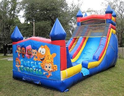 Astounding 18Ft Bubble Guppies Dry Slide Bounce House Party Rentals Interior Design Ideas Tzicisoteloinfo