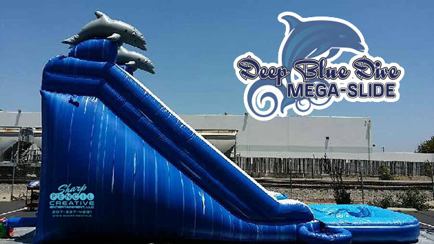 Mega inflatable water slide for rent in Maine