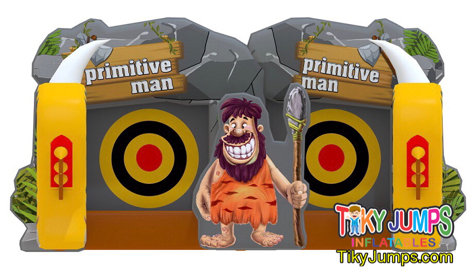 Primitve Man Ax Throwing Inflatable Game