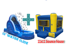 Package: 12' WATER Slide & 11x11 Bounce House