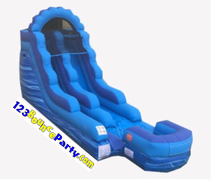18' Tall Blue Dry Slide