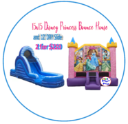 PACKAGE:Disney Princess & 12' Blue Dry Slide