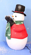 Snow Blowing Snowman