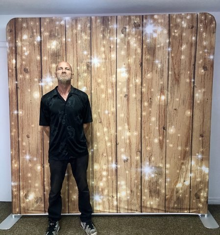 sparkle wood  back drop