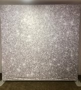 silver sparkle back drop