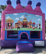 circus fun girl bounce house