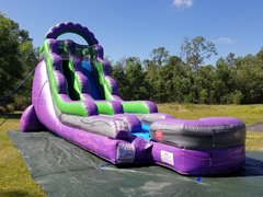 18ft Purple Marble Slide Single Lane