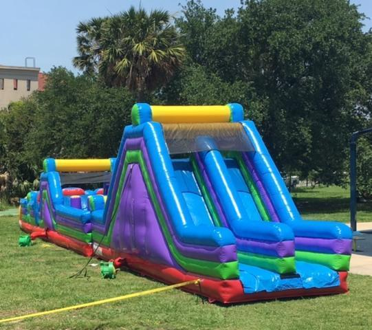 Rock Slide And 40ft Obstacle Course Rental Abouttobounce