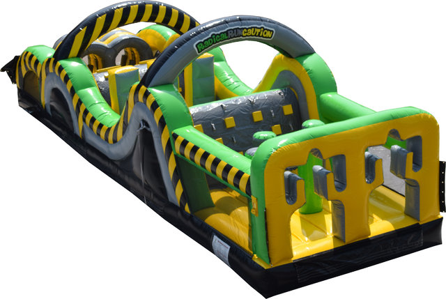 35 Ft. Radical Run Caution Obstacle Course Interactive