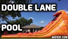 24 Ft. Double Lane Lava Water Slide with slip and slide
