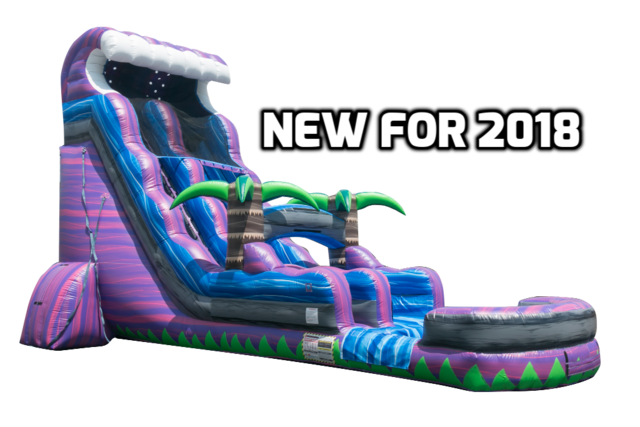 22 Ft. Purple tsunami Water Slide with Pool