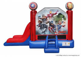 2 in 1 Avengers Inflatable combo Bounce House rental