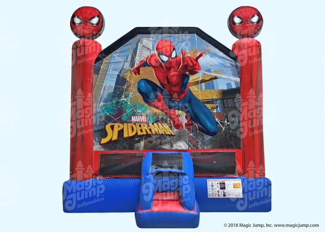 A Spiderman Inflatable Bounce House rental