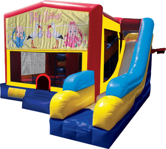 Baby Shower Inflatable Bounce House Combo 7in1